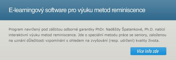 E-learning software reminiscenční terapie